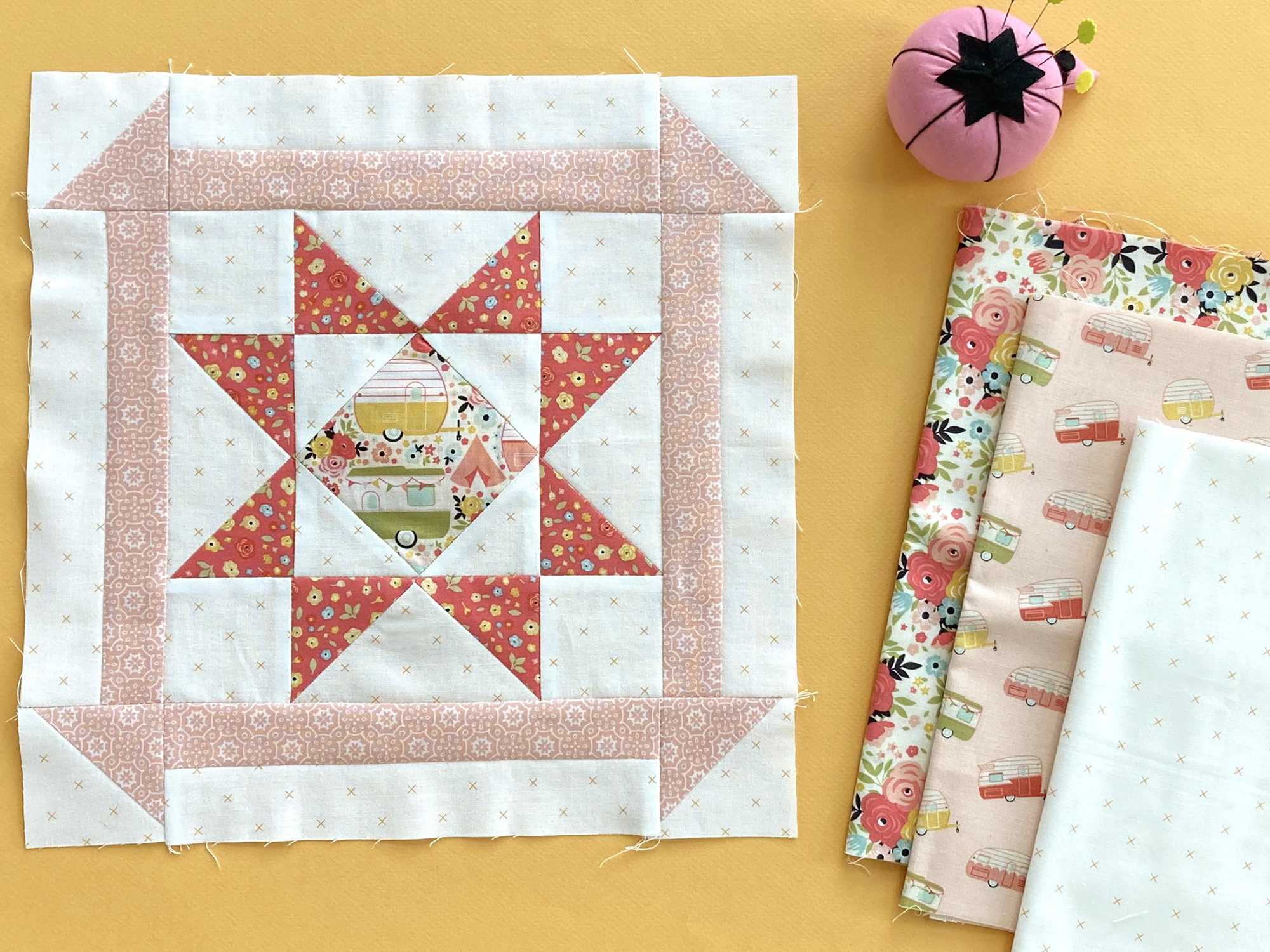 Block 4 with Riley Blake Designs fabrics