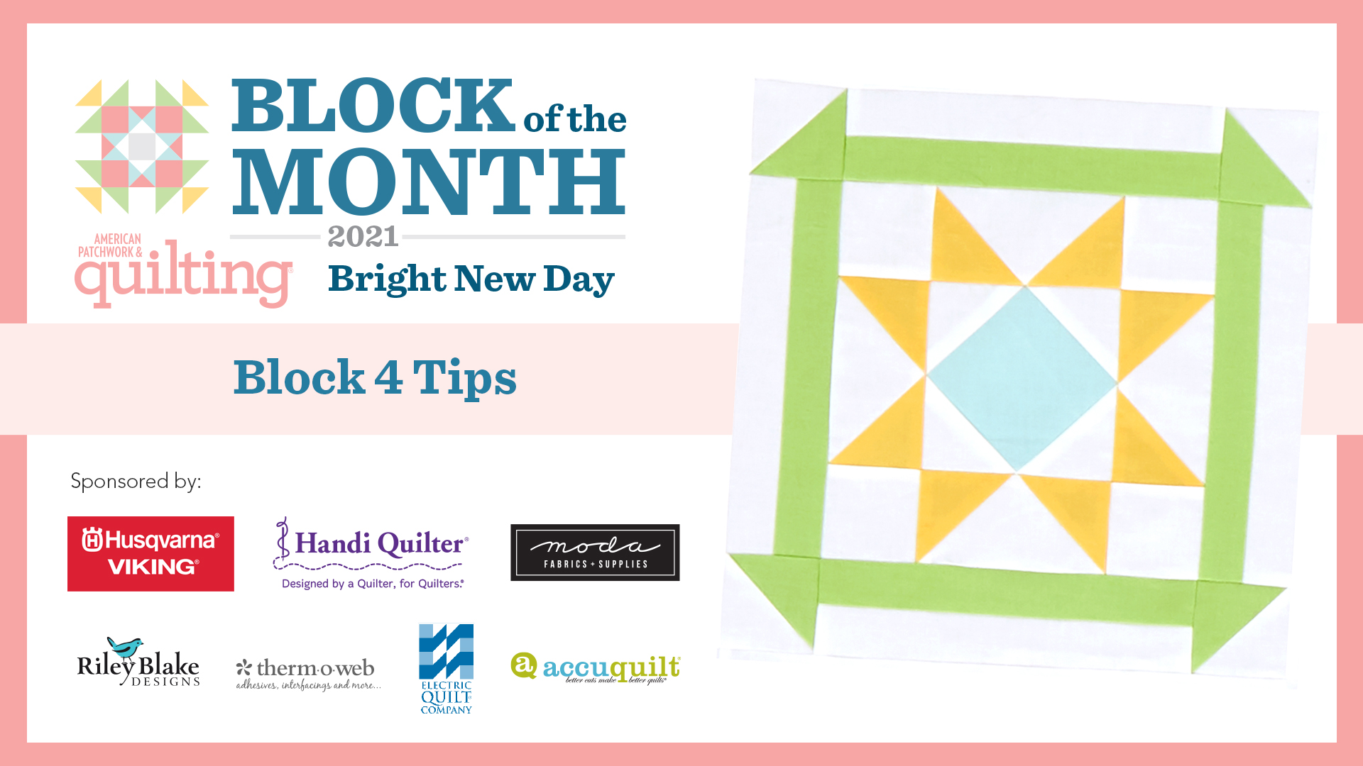Bright New Day: Block 4 Tips Video