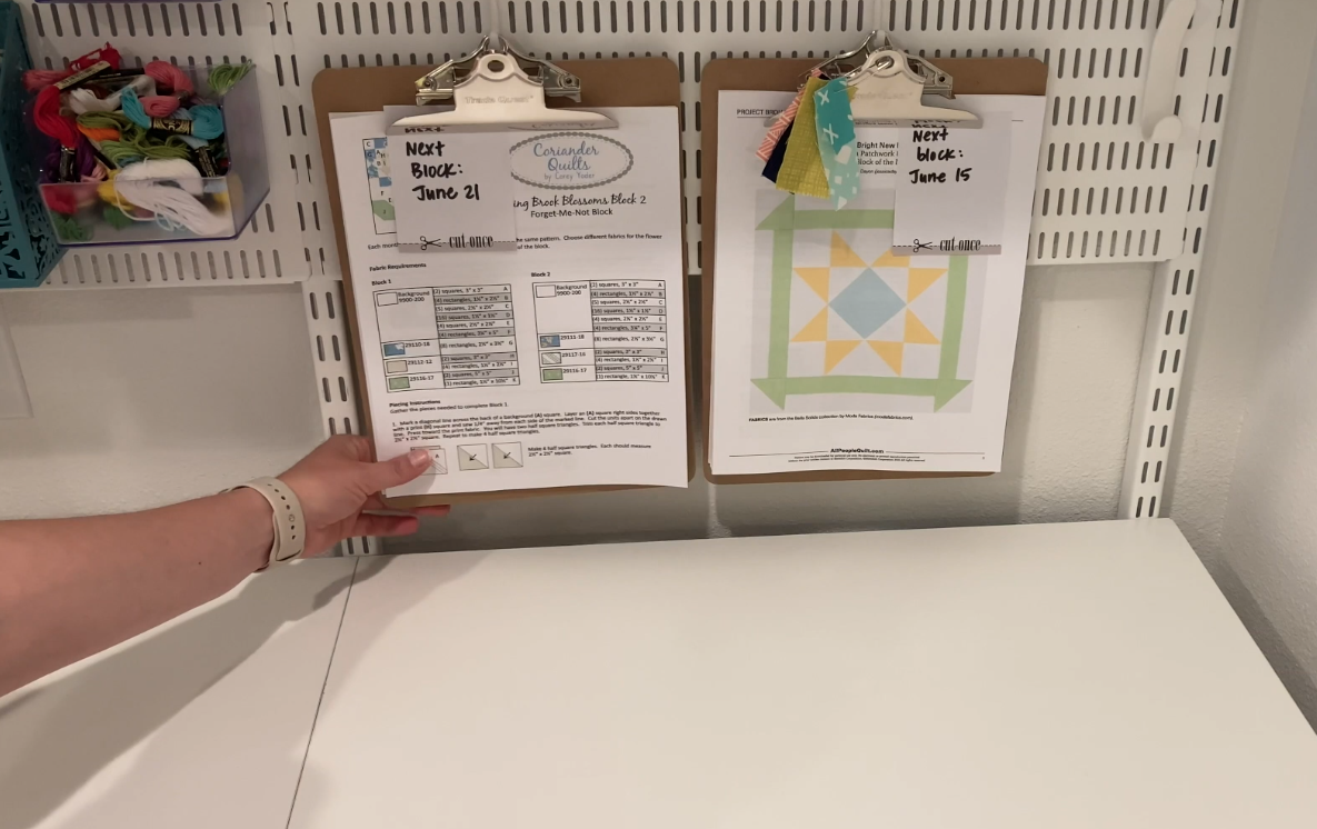 Organize Patterns with Clipboards