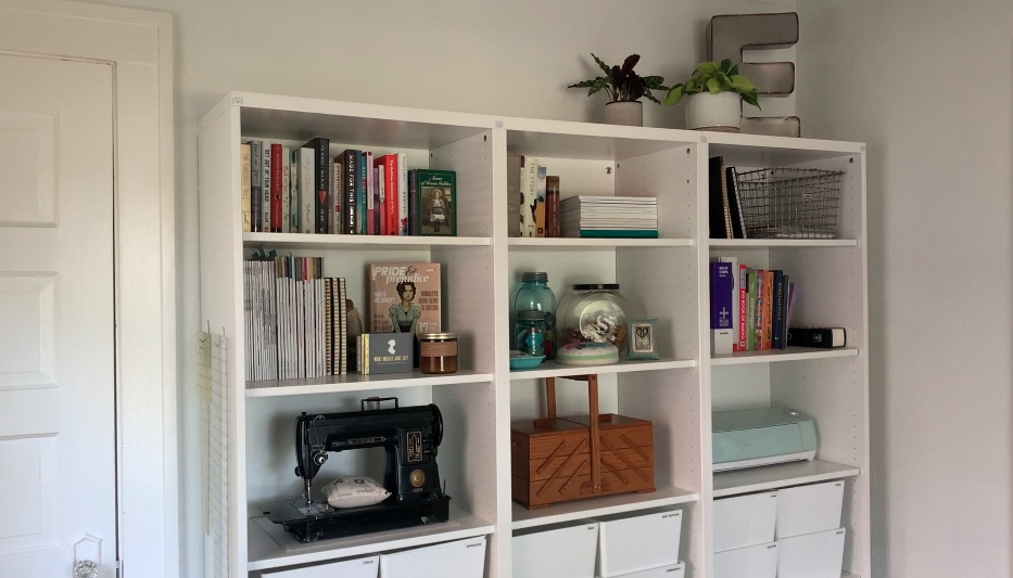 Tour Elizabeth's Small Sewing Space