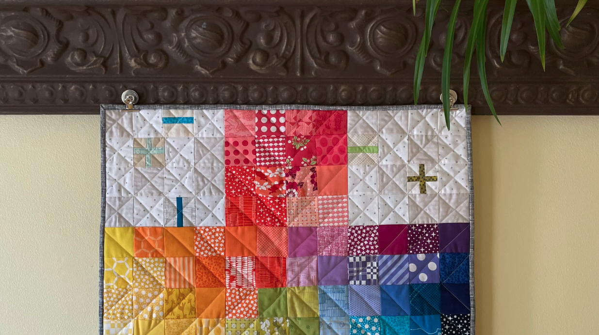 Hang Quilts with Metal Clips