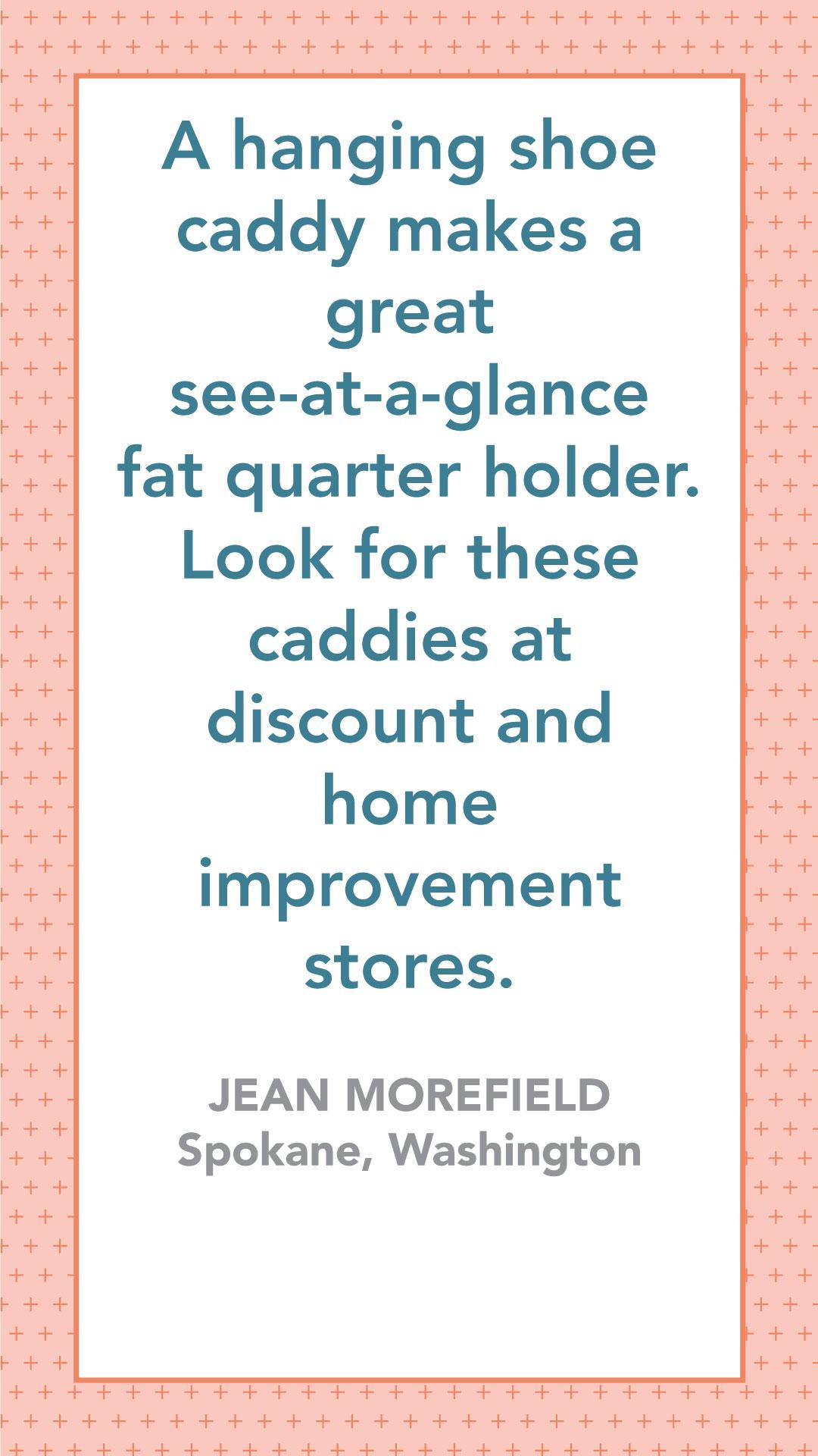 Shoe Storage for Fat Quarters