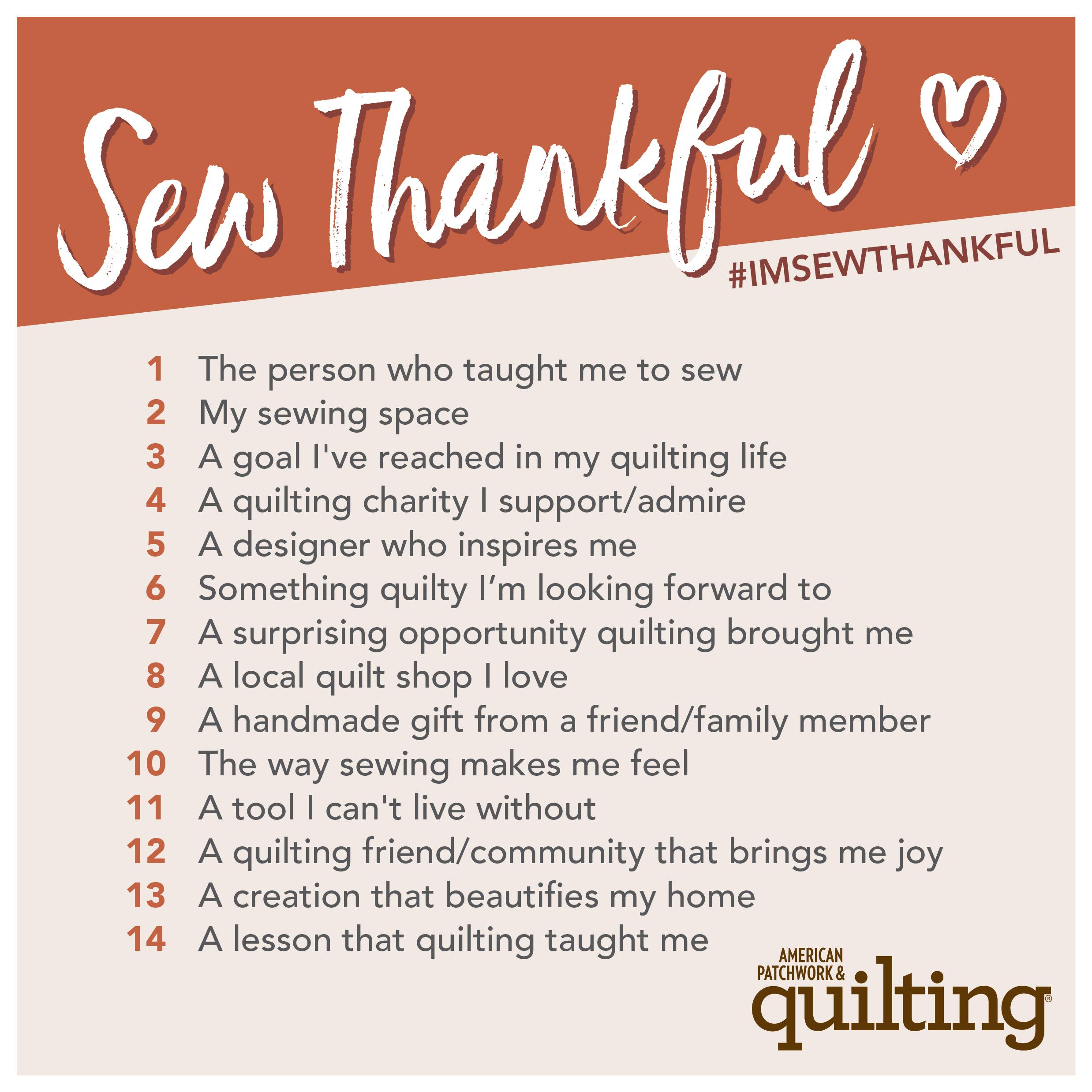 Sew Thankful 2021