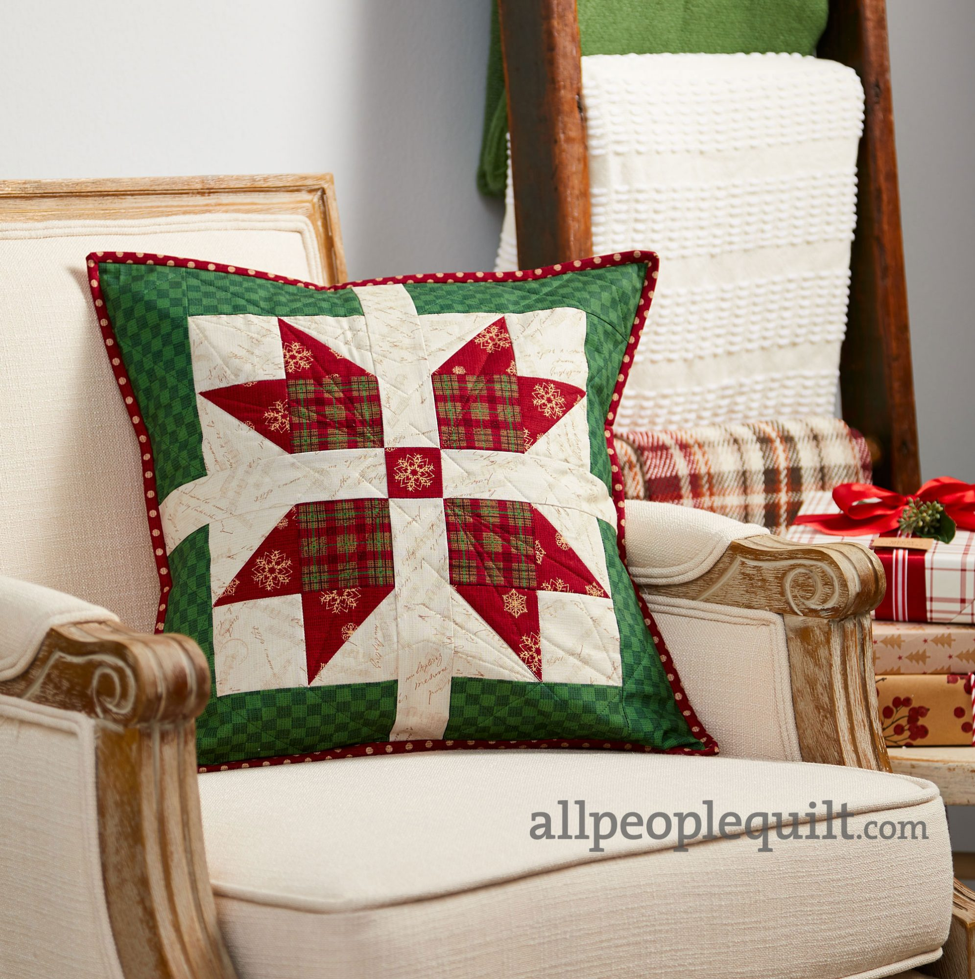 Wrapped Star Pillow