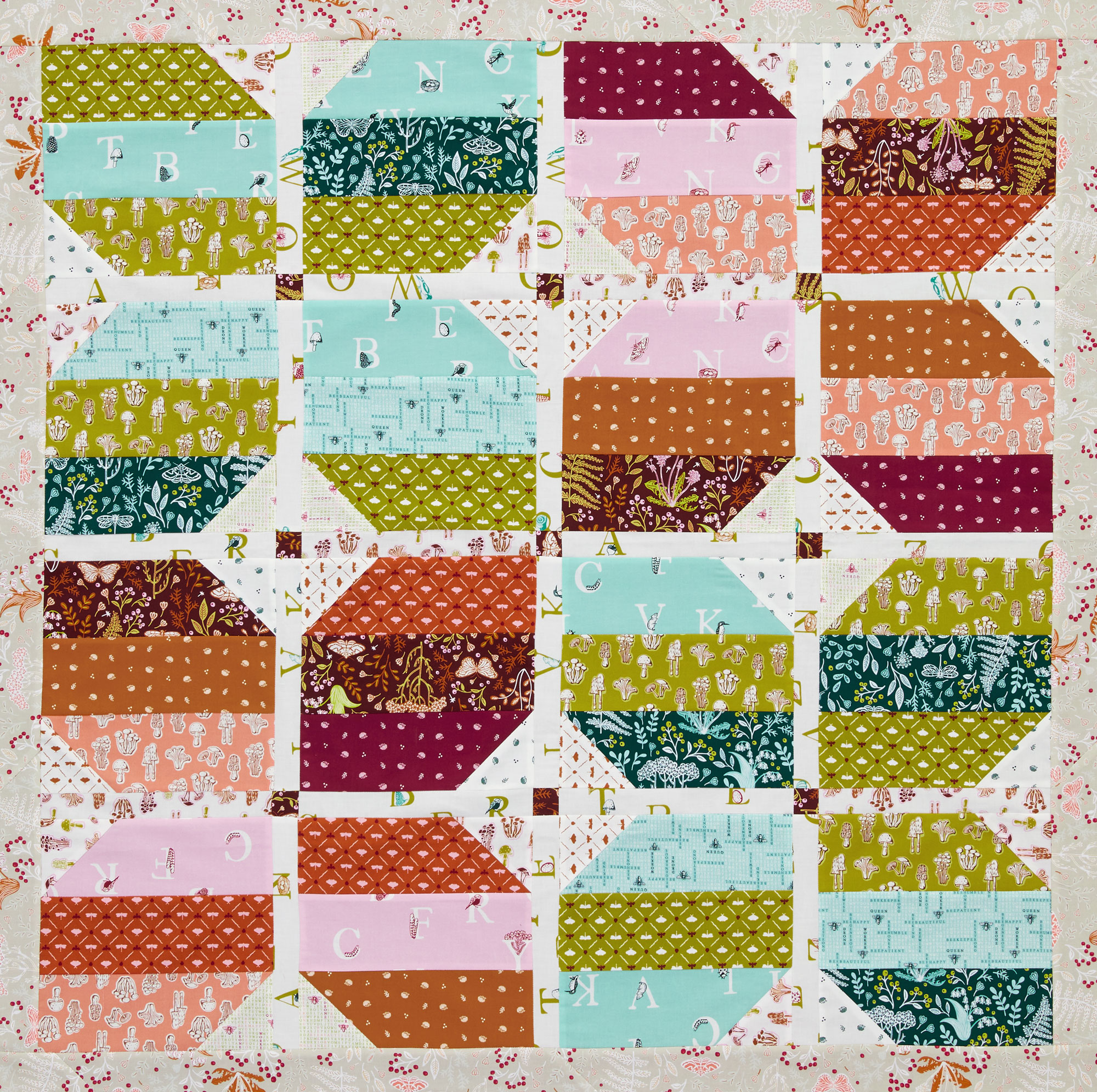 Opposites Attract Wall Quilt
