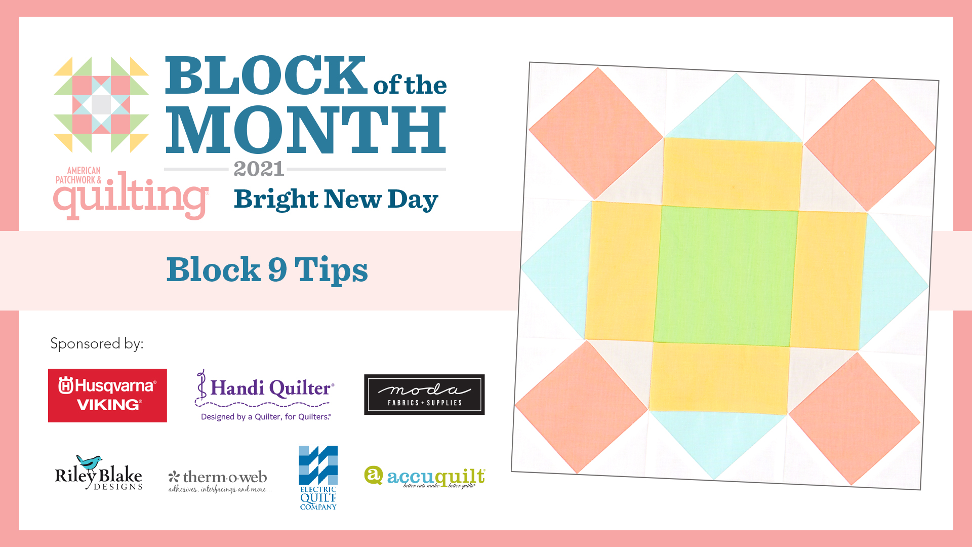 Bright New Day: Block 9 Tips Video