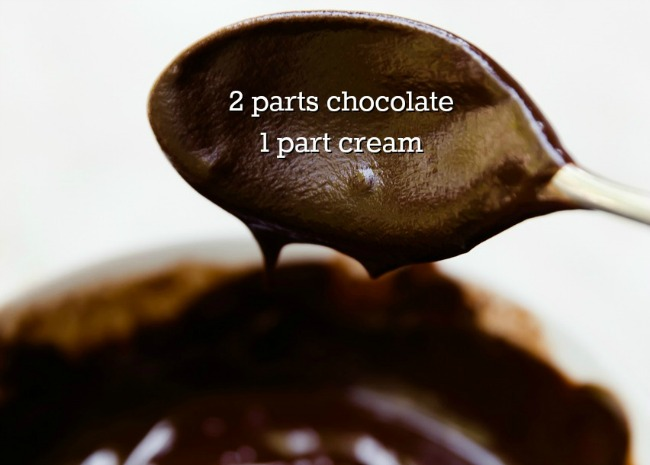 Two Parts Chocolate to One Part Cream
