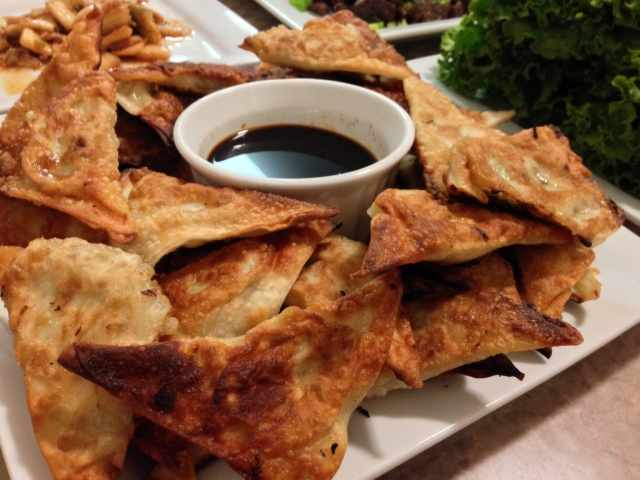 Korean Egg Roll Triangles