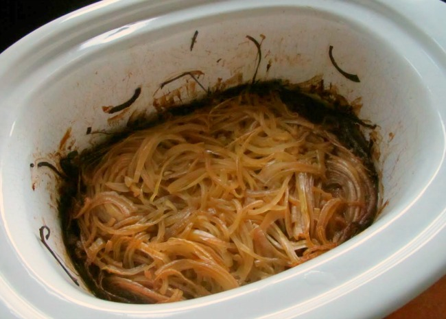 Slow Cooker Caramelized Onions in the Pot