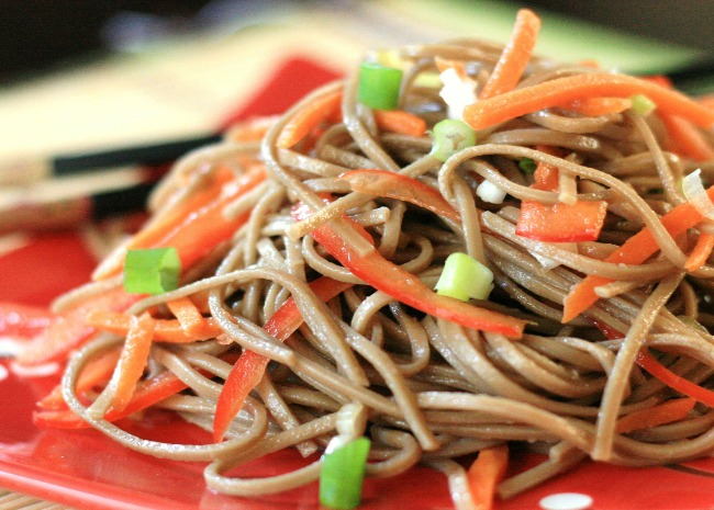 Cold Szechuan Noodles and Shredded Vegetables