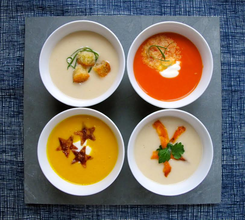 4 Soup Garnishes photo by Vanessa Greaves