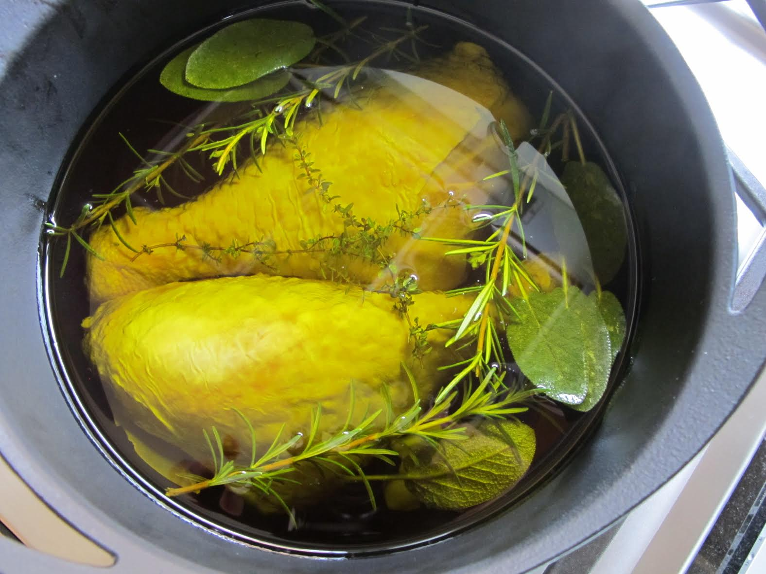 Confit Turkey in the Pot
