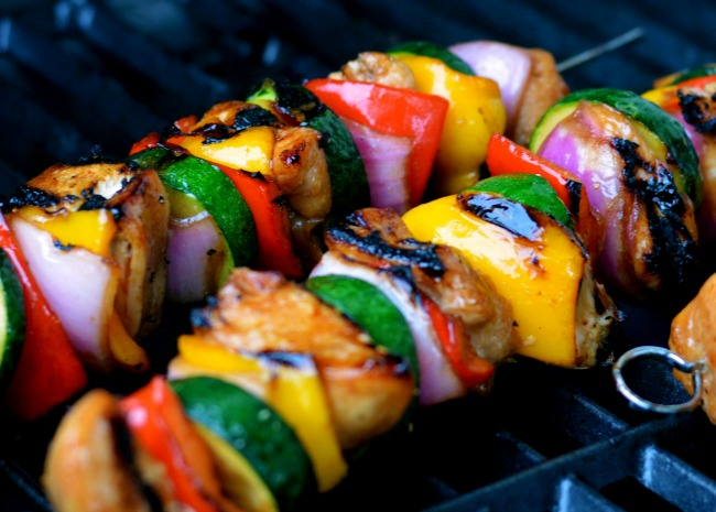 Yummy Honey Chicken Kabobs