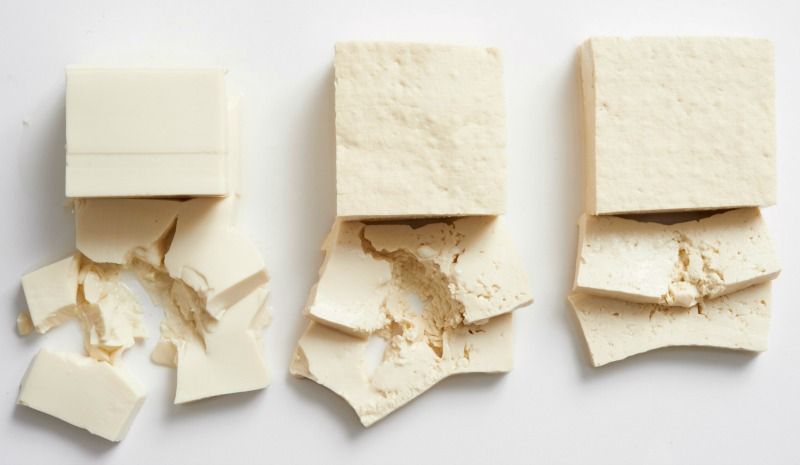 Silken Tofu, Firm Tofu, and Extra-Firm Tofu