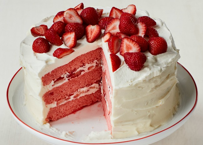 102899743 Strawberry Cake Photo by Allrecipes 650x465
