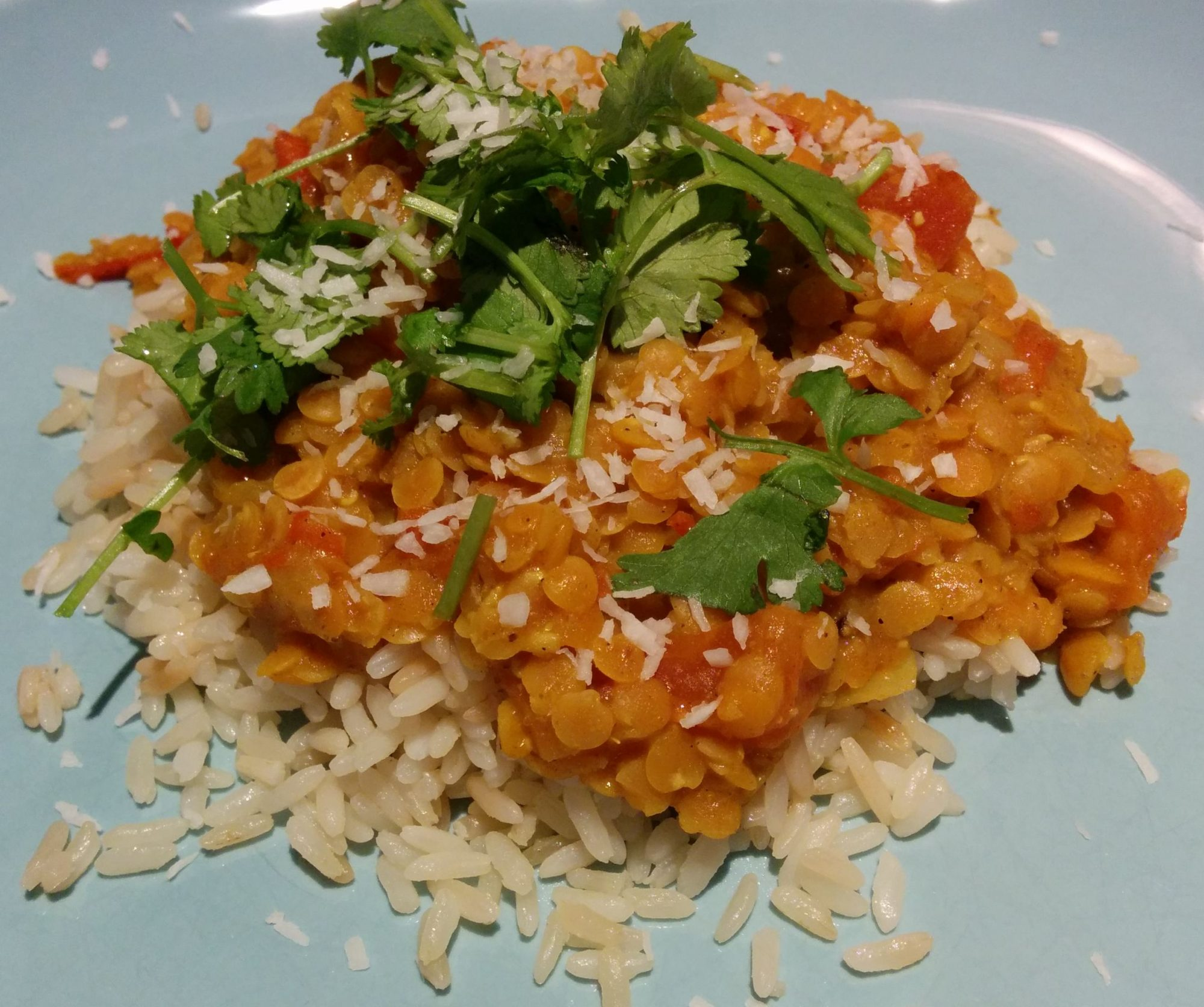 1589119 Coconut-Curry Lentil Stew Served over Quinoa 166485 Lindsey