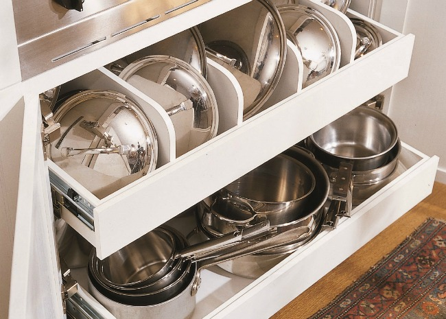 Pots and Pans in Drawer
