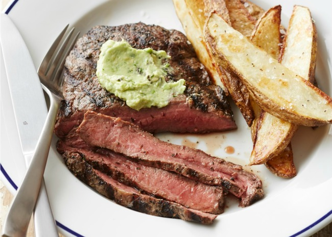Steak Frites with Seasoned Butter