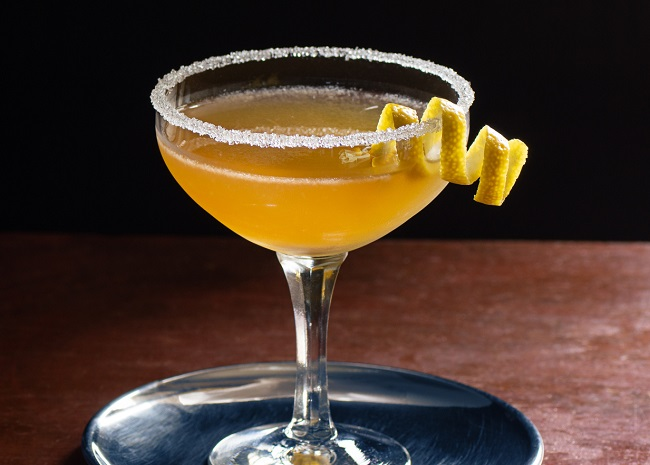 Brandy Sidecar with Sugared Rim