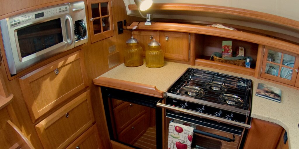 the galley kitchen boat