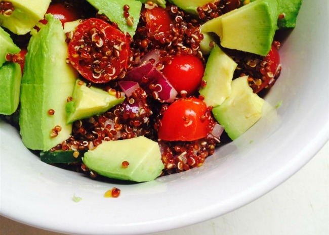 Red Quinoa and Avocado Salad