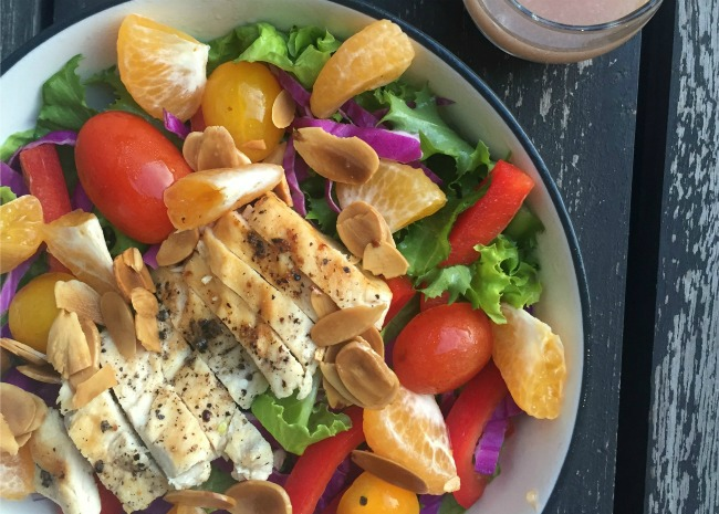 Grilled Chicken Salad with Seasonal Fruit