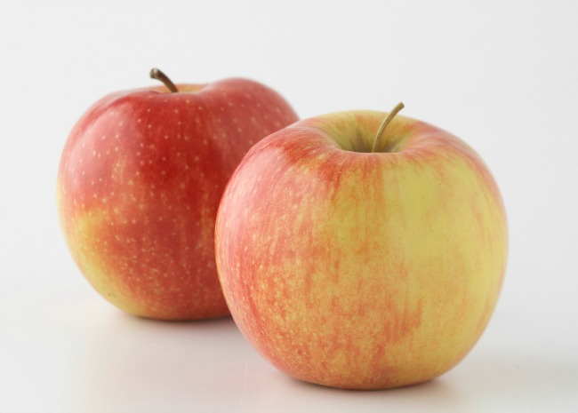 two jonagold apples