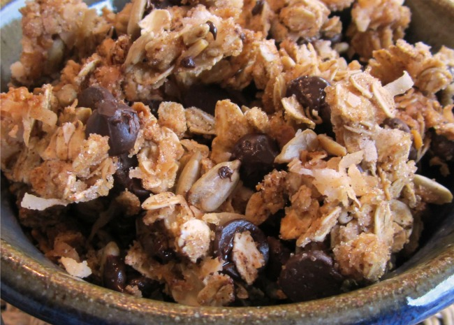 Crunchy Peanut Butter, Chocolate, Coconut Granola
