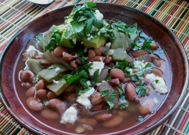 Mexican Pintos with Cactus