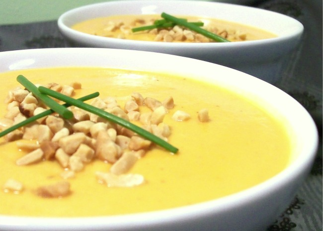 Creamy Sweet Potato With Ginger Soup
