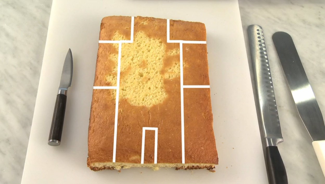 Cake with Pattern