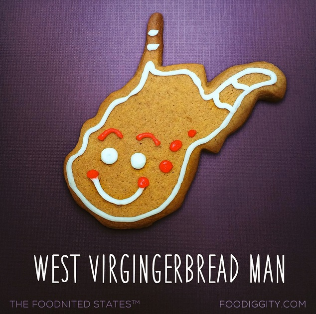 West Virgingerbread Man via Foodiggity