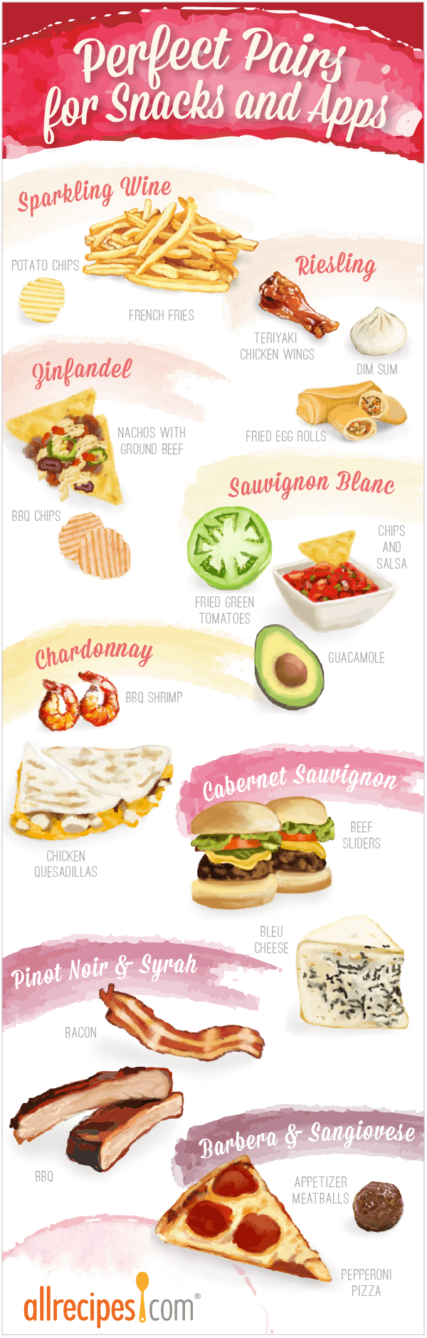 Perfect pairs for snacks and apps
