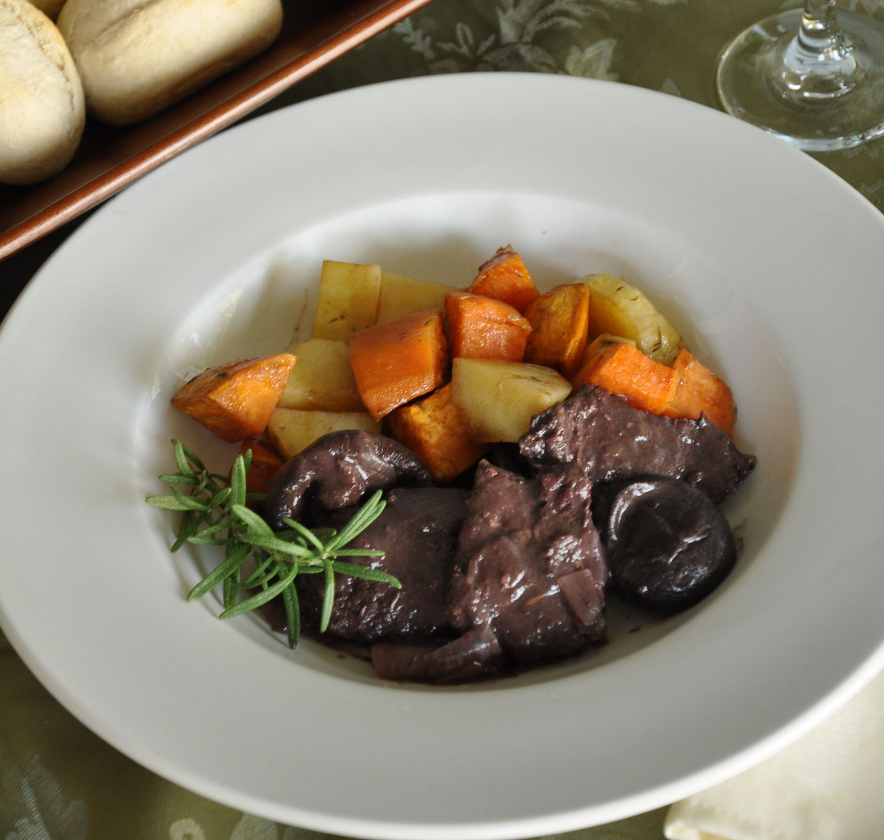 Braised Venison with Rosemary and Shiitake