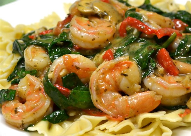 5. Add Spinach to Your Scampi
