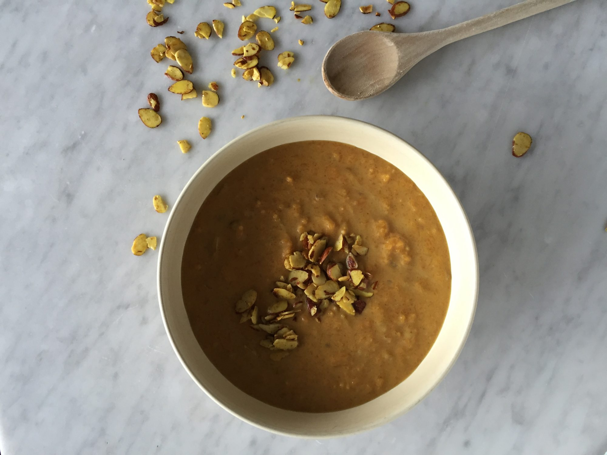 bowl of Claire's Curried Butternut Squash Soup