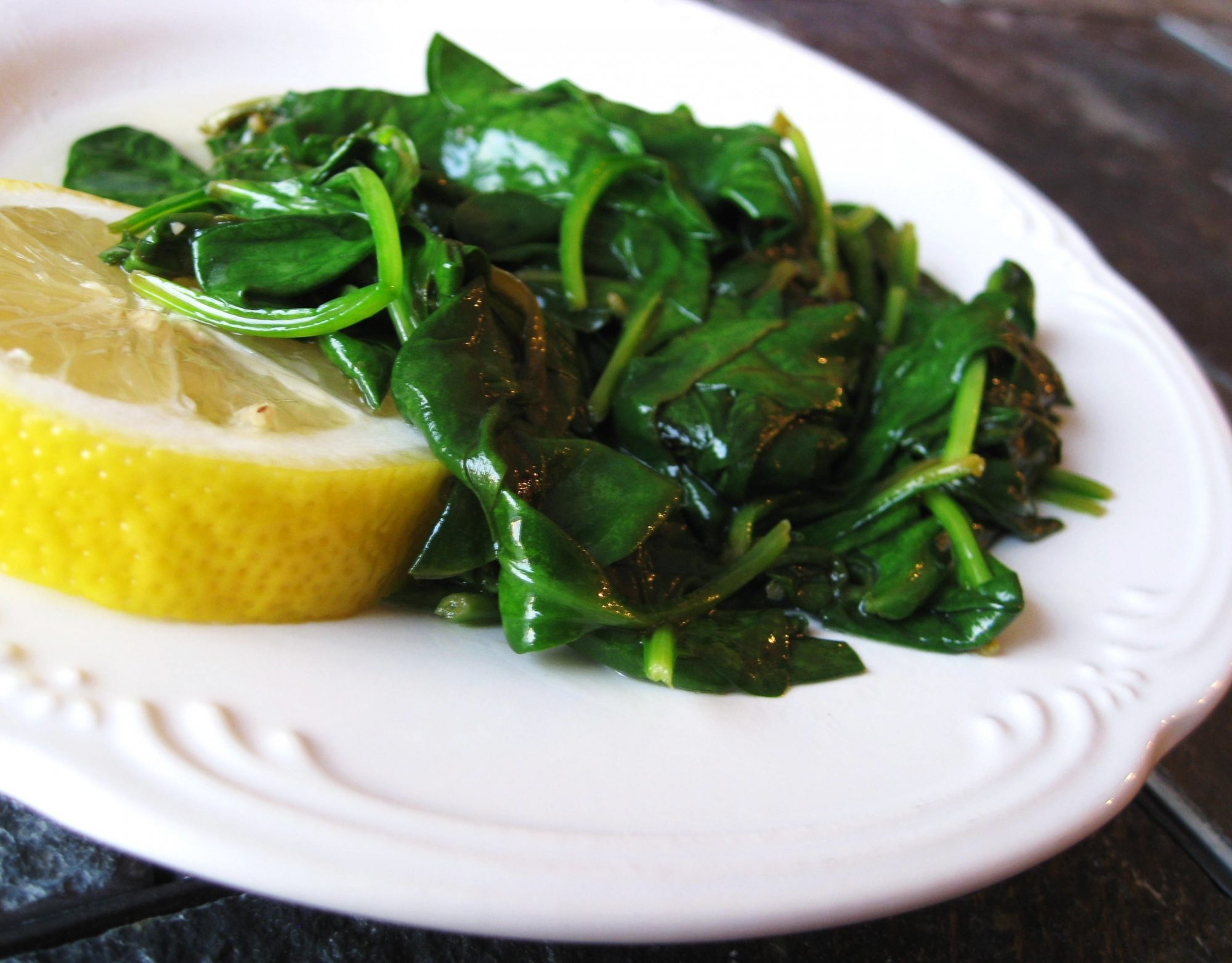 Buttery Lemon Spinach