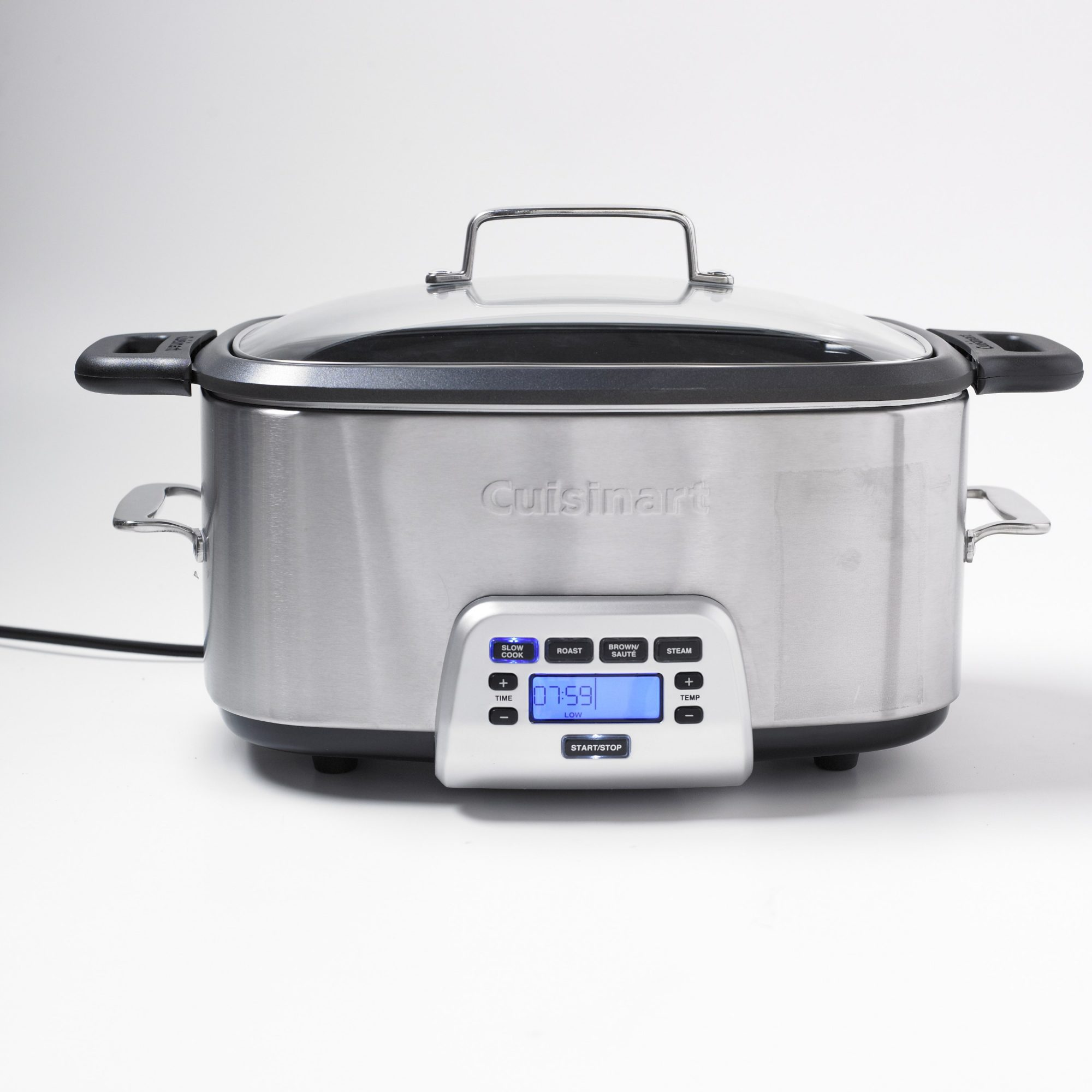 Stainless Steel Rectangular Slow Cooker with Digital Touchpad