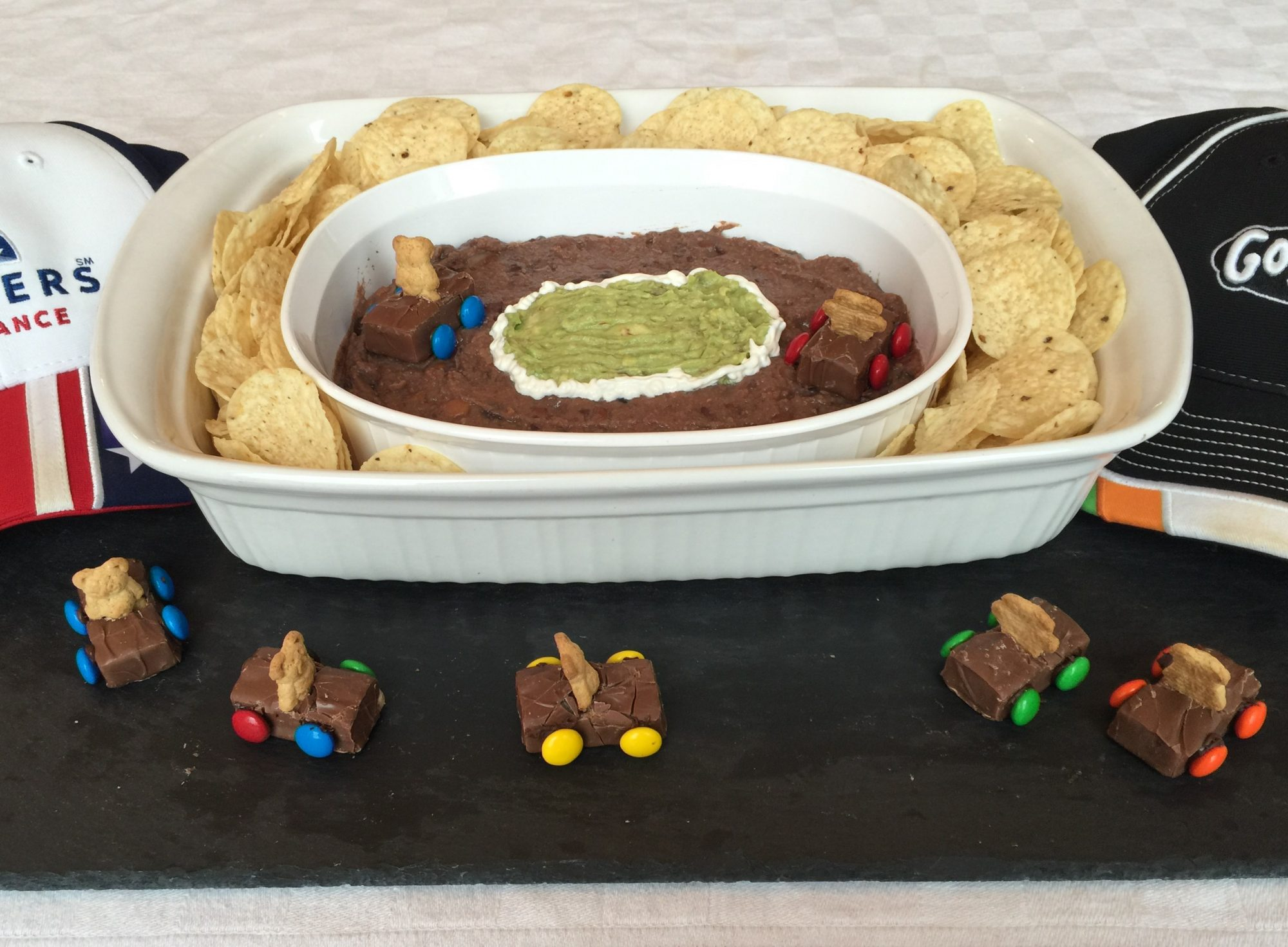 Bean Dip and Guacamole Snack Track