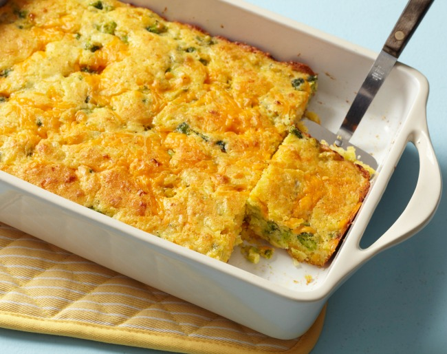 Broccoli Cornbread with Cheese Casserole