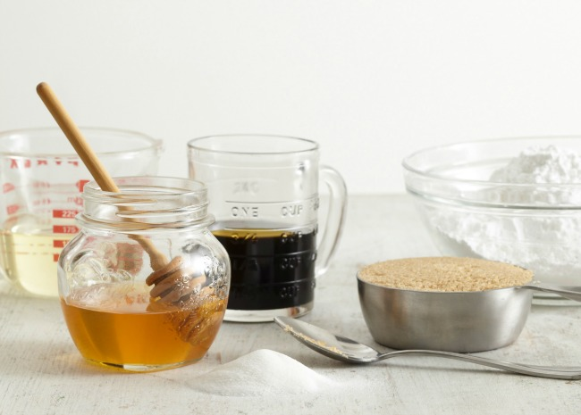 Syrup, Honey, Molasses, White Sugar, Brown Sugar, Powdered Sugar