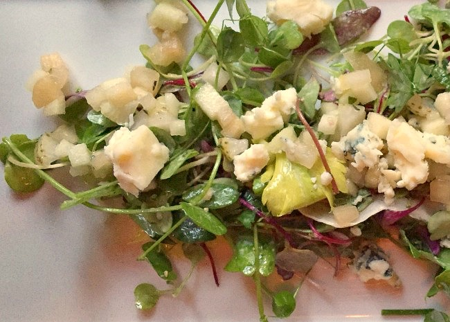 Salad with Pea Shoots