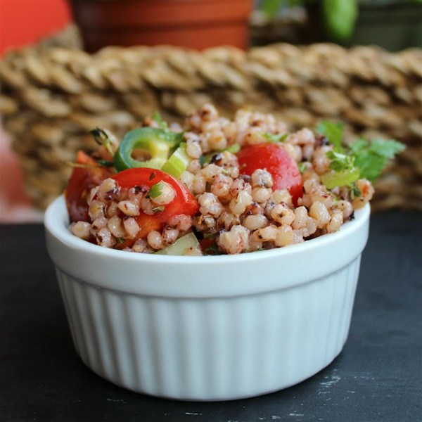 3645438 whole grain and vegetable salad photo by Buckwheat Queen