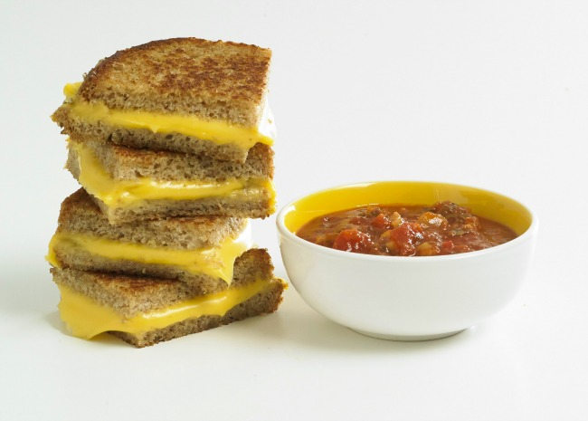 Grilled Cheese with Marinara dipping sauce