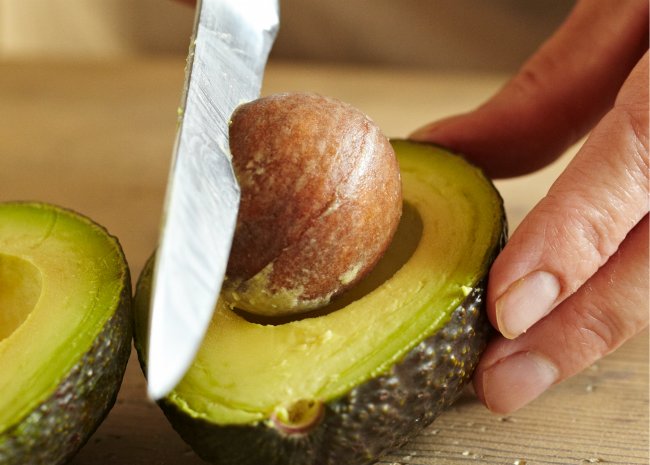 Avocado-slicing-step-two.-Photo-by-Meredith