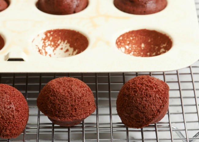 Cake pops out of pan. Photo by Meredith
