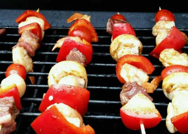 Scallop and shrimp kabobs. Photo by Linda Scott