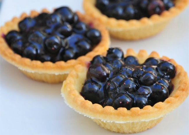 Topless Blueberry Tarts