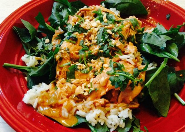 Frank's Favorite Slow-Cooker Thai Chicken. Photo by love2cook