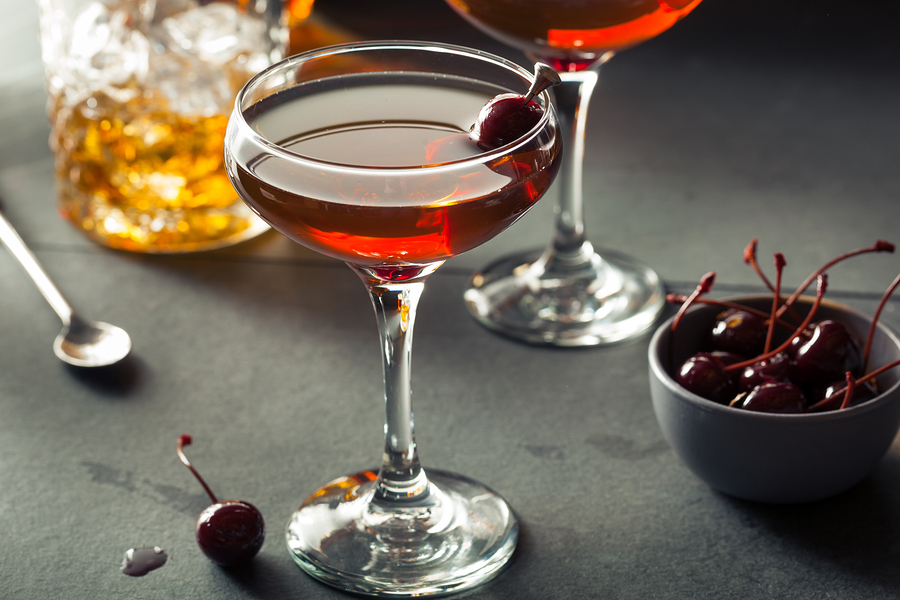 Homemade Rye Bourbon Manhattan